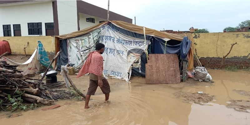 Mirchpur Kand victims Water entered into Valmiki community tents