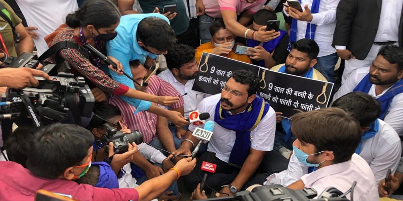 Where is Arvind Kejriwal Chandrashekhar Azad questions on Delhi Nangal village Dalit Girl Rape body burnt case