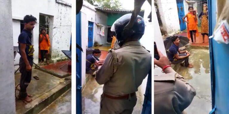 Uttar Pradesh Jhansi Dalit Valmiki youth tied up with hand pump and beaten up